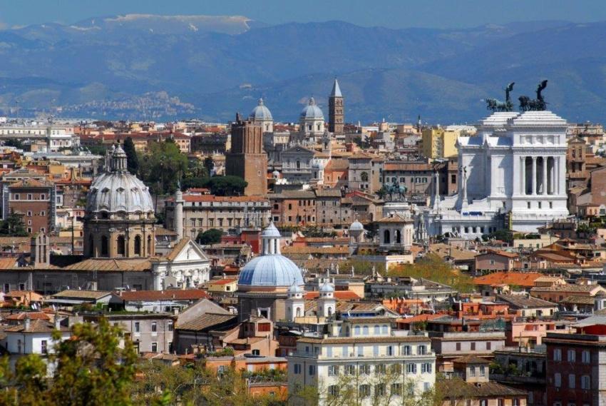 Panorama_veduta dal Gianicolo verso il Vittoriano_FAUSTO QUINTAVALLE